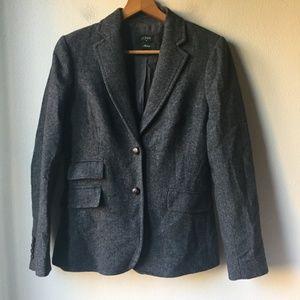 J. Crew Wool Hacking Jacket Blazer in Herringbone